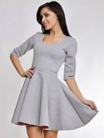 Платье женское Неопреновое светло серое
