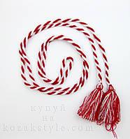 Пояс до вишиванки червоно-білий