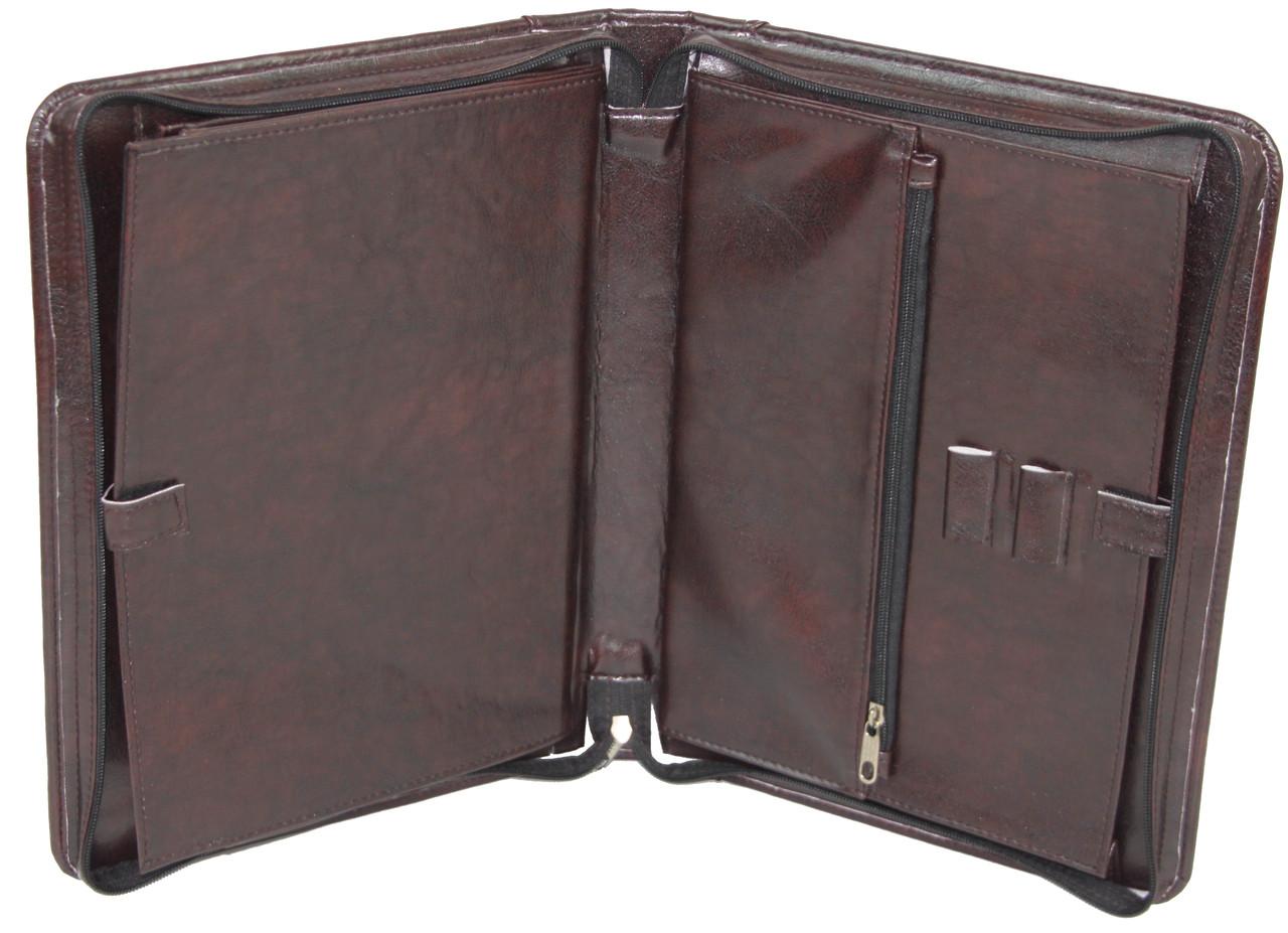Папка деловая из искусственной кожи Exclusive Коричневый ( 710200-1 brown)