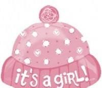 Шар с гелием  шапочка«Это Девочка!».