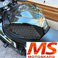 Соты на бак мотоцикла карбон, фото 1