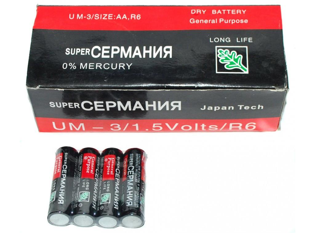 Батарейка Сермания R06 AA пальчиковая 1.5V