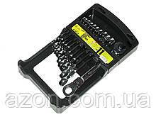 Набір ключів рожково-трещоточных 11шт з карданом 8-19 мм. ALLOID ПК-2081-11K (наб.)