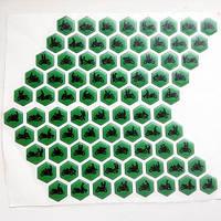 Наклейки на бак камасутра зеленые