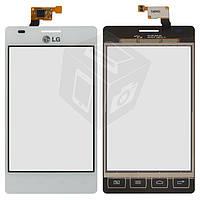 Touchscreen (сенсорный экран) для LG Optimus L5 E615, оригинал, белый