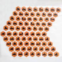 Наклейки на бак камасутра оранжевые