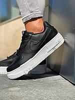 Кросівки жіночі модні чорні з білою підошвою. Жіночі стильні кросівки чорного кольору., фото 1