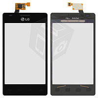 Touchscreen (сенсорный экран) для LG Optimus L5 E615, черный, оригинал
