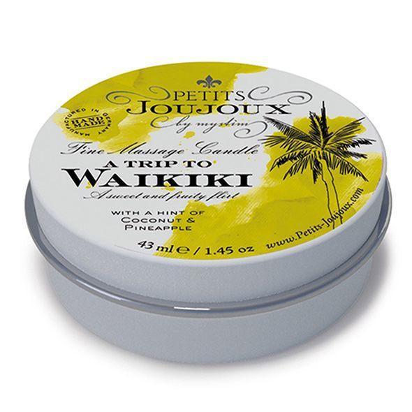 Масажна свічка Petits Joujoux - Waikiki Beach - Coconut and Pineapple (43 мл) з афродизіаками
