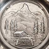 Колекційна попільничка, олово, Німеччина, Альпи, фото 4
