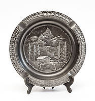 Коллекционная пепельница, олово, Германия, Альпы, фото 1