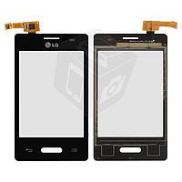 Touchscreen (сенсорный экран) для LG Optimus L3 II E425, черный, оригинал