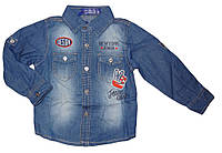 Джинсовая рубашка для мальчиков  S&D 1-5 лет. арт. KK-546
