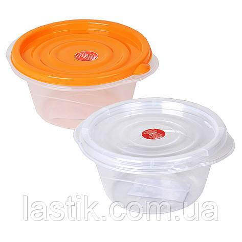 Контейнер для харчових продуктів Алеана Омега круглий 0.75 л, фото 2