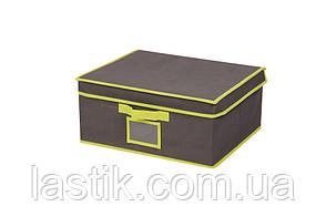 Коробка для хранения вещей с крышкой и PVC окошком, M, 30*25*15 см, ТМ МД