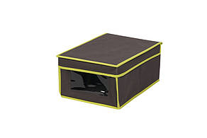 Коробка для хранения вещей с крышкой и PVC окошком, S, 25*35*16 см, ТМ МД
