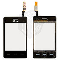 Touchscreen (сенсорный экран) для LG T370 / T375, черный, оригинал