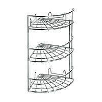 Навесная полочка угловая трехуровневая 18 х 18 х 45 cм, ТМ ARTEX