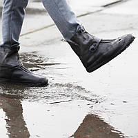 Защитные чехлы для обуви, застежка - кнопка, коричневые, размер L