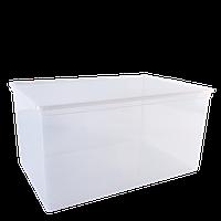 Емкость для хранения вещей с крышкой, прозрачная, 45л