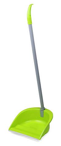 Совок поворотний PALETTA VIOLA, гумова кромка, довга ручка, фото 2