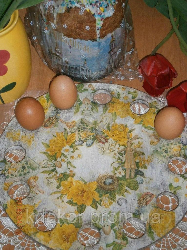 Подставка пасхальная для кулича и яиц заготовка для декупажа и декора