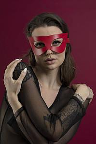 Маска на обличчя Feral Feelings - Mistery Mask натуральна шкіра, червона