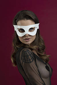 Маска на обличчя Feral Feelings - Mistery Mask, натуральна шкіра, біла