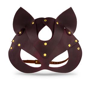 Преміум маска кішечки LOVECRAFT, натуральна шкіра, чорна, подарункова упаковка