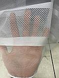 Тюль на основі бамбука в смужку для спальні, залу. Колір: Молочний із золотом, фото 8