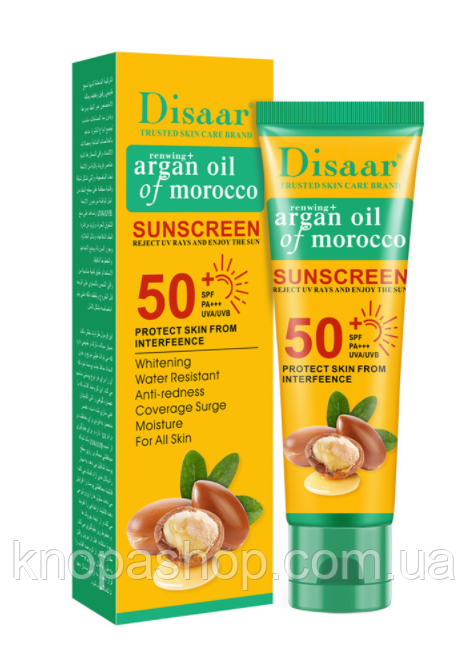 Солнцезащитный крем  аргановое масло    SPF 50++ disaar  50 мл