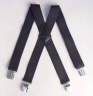 Широкие мужские подтяжки Paolo Udini темно-серые, фото 1