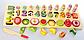 """Дерев'яні іграшки для дітей, фруктова математика, """"Набір першокласника"""", цифри, фрукти, фігури, MD 2284, фото 3"""