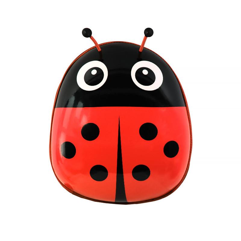 Дитячий рюкзак з твердим корпусом Lesko Ladybug 229 Червоний