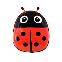 Дитячий рюкзак з твердим корпусом Lesko Ladybug 229 Червоний, фото 1