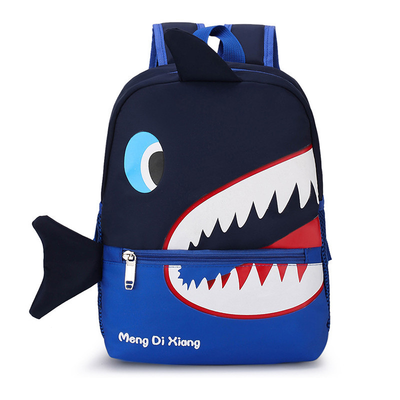 Детский рюкзак Lesko 7826 Dark Blue Shark