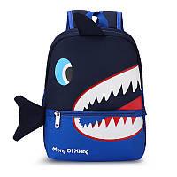 Детский рюкзак Lesko 7826 Dark Blue Shark, фото 1