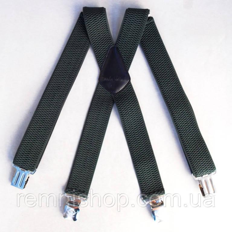 Широкие мужские подтяжки Paolo Udini зеленые