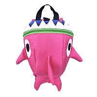 Дитячий рюкзак Baby Shark Lesko 5815 Рожевий, фото 1