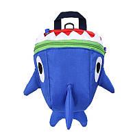 Детский рюкзак Baby Shark Lesko 5815 Темно-синий, фото 1