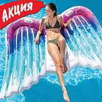 Надувной плотик для плавания Intex 58786 Ангельские крылья 251x160 см Плот для бассейна и моря интекс ПВХ