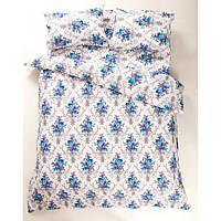 Постільна білизна Lotus Ranforce - Loise V1 синій євро (2000008479172)