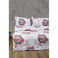 Постільна білизна Lotus Ranforce - Angelique V1 рожевий двоспальне (2000008479103)