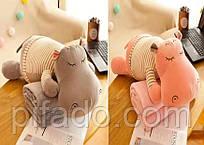 Детская мягкая игрушка с пледом. Модель Y8B2