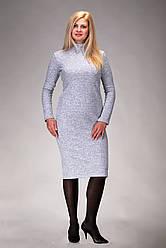 Теплое платье из ангоры 52 размер