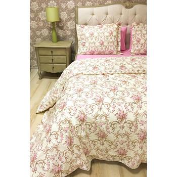 Постільна білизна Lotus Premium - Caroline рожевий сімейний (2000008491242)