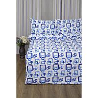 Постільна білизна Lotus Ranforce - Delta синій сімейне (2000022072359)