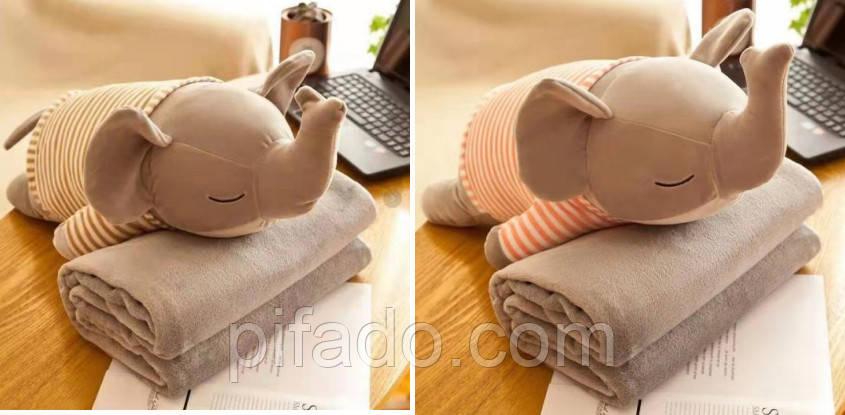 Детская мягкая игрушка с пледом. Модель Y8B3
