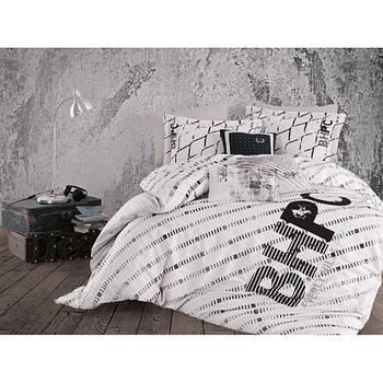 Постельное белье Beverly Hills Polo Club ранфорс - BHPC 016 Black евро (2000022198929)
