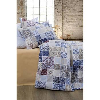Постельное белье Lotus Premium - Megan синий евро (2000022193313)
